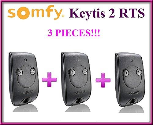 3x SOMFY KEYTIS NS 2RTS, 2canaux handsender. Top qualité original Télécommande. 3pièces pour le meilleur prix.