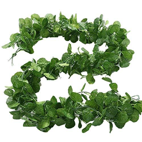 Künstliche Gefälschte Weinrebe Mit Hängender Pflanze Großer Blätter Garland Für Hochzeitsfest Shop Home Decor Innen Draußen (Quallen-Blatt) (Qualle Pflanze)