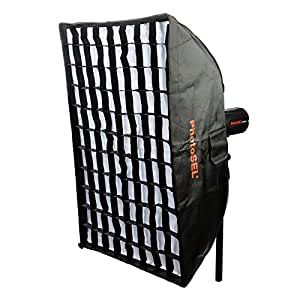 PhotoSEL SBSR6X9BE 60 x 90 cm Rectangular Softbox with Honeycomb Grid - S-Type Mount, for PhotoSEL / Bowens Studio Flash