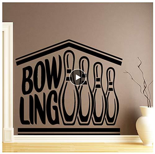 jqpwan Kreative Bowling Wandaufkleber Dekoration Zubehör Für Kinderzimmer Kinderzimmer Dekor Home Party Decor Tapete 58 * 75 Cm