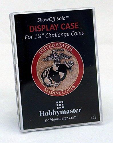 """Display für Collectible Challenge Münzen, Casino Chips, Poker Chips, oder die großen Münzen–""""Showoff Solo von Hobbymaster, Showoff Solo, farblos"""