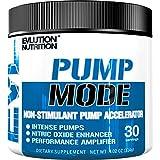 Evlution Nutrition PUMP MODE | Suplemento En Polvo De Oxido Nitrico Booster Vascular Para Un Bombeo Intenso Y Extra Rendimiento | Contiene 30 Dosificaciones Sin Aromas
