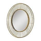 ZI LING SHO- Badezimmer-Spiegel-runder Goldrahmen-Hotelwohnzimmer an der Wand befestigter Hauptdekoration-Spiegel 44cm im Durchmesser