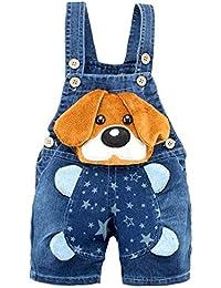 Kidscool - Pantalones cortos de verano para bebés y niñas con orejas amarillas grandes