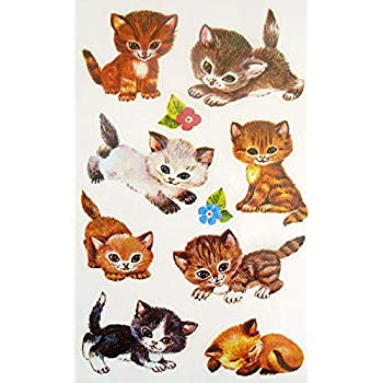 Stickers childrens animal cat decoration kids labels scrapbook card making craft