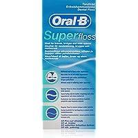 Oral-B - Filo Interdentale Super Floss 50 pezzi Pre tagliato