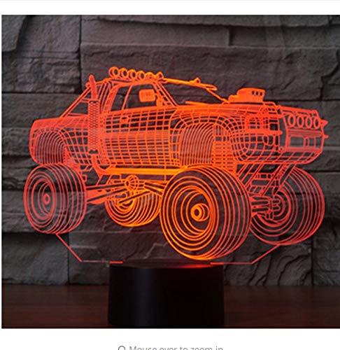 3D Led Nachtlicht Mode Panzer Suv Panzerwagen Mit 7 Farben Licht Für Heimtextilien Lampe Erstaunliche Visualisierung Licht Box