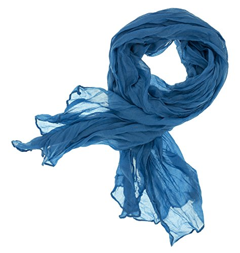 DOLCE ABBRACCIO CRAZY MAMA Damen Schal Halstuch Tuch Damenschal aus Baumwolle MASH Schals Ganzjährig Frühling Sommer (Blau)