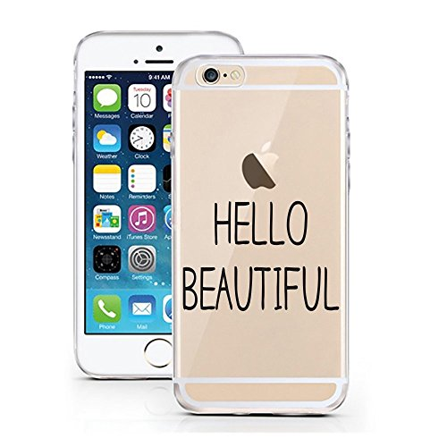 Blitz® Oeuf motifs housse de protection transparent TPE caricature bande iPhone My Mom M5 iPhone 8sPLUS Hello Beautiful M7