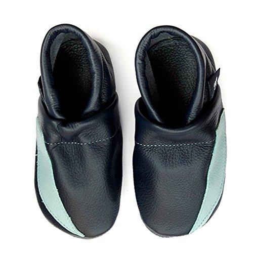 Sapatos Blau Sapatos Bebê Sapatos Couro De Rastejando Pantau De Puschen eu hellblau Esporte Couro Walker 1qtwxaxp