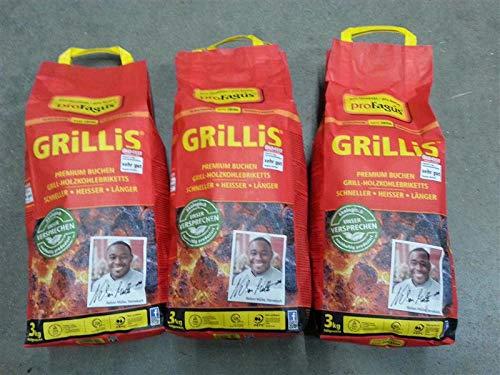 Profagus Grillbrikett-3er Set à 3kg zum Grillen