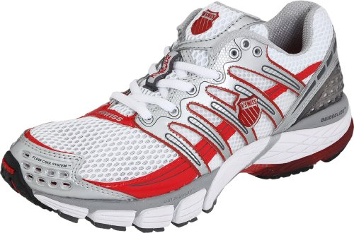 K-SWISS Konejo II Ladies Running Shoes, White/Red, UK7.5