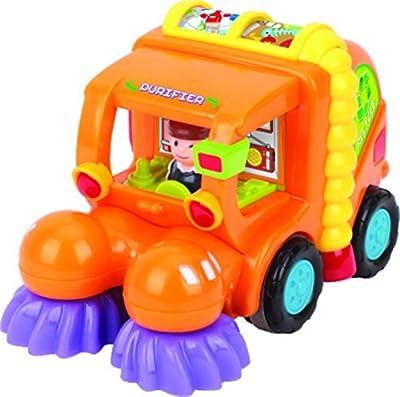 Spielzeug für Kleinkinder - Set mit 3 reibungsbetriebenen Spielzeugen TG641 - Reibungsbetriebener Zementmischer / Kehrmaschine / Mähdrescher mit automatischen Funktionen - Spielzeug Push und Go Reibung Powered Auto spielzeug ab 2 jahren von ThinkGizmos (g