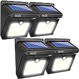 BAXiA Solarleuchte Außen,28 LED Solarlampe mit Bewegungssensor Kabelloses Wasserfest Sicherheitslicht Solarlicht für Gärten,Türe,Flur,Wege,Terrassen, Patio, Zaun (4-Pack)