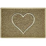 Nicoman HEART Embossed Shape Door Mat Dirt-Trapper Jet-Washable Doormat【Use Indoor or Sheltered Outdoor 】 (60x40cm/23…