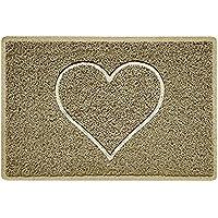 Nicoman HEART Embossed Shape Door Mat Dirt-Trapper Jet-Washable Doormat - (Use Indoor or Sheltered Outdoor) - (60x40cm…