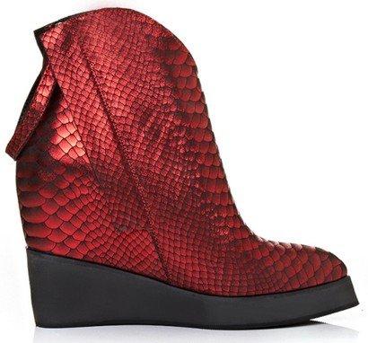 Laruise , Sandales Compensées femme Rouge
