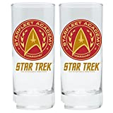 Star Trek-Lot de 2verres 300ml-Star Fleet Academy Command