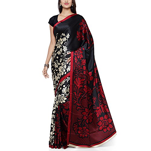 Mrinalika Fashion Crepe Saree (Jpq5644A Saree_Black)