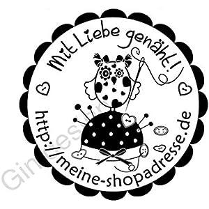 Handmade Stempel | Mit Liebe genäht! - Nadelkissen mit Eule