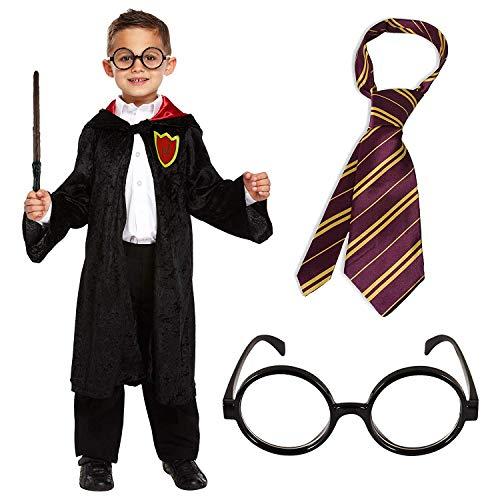 Wizard cloak set da 4 pezzi costume da ragazzo scuola vestito (l)