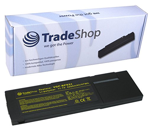 Trade-Shop Premium Li-Polymer Akku, 10,8V/11,1V / 4200mAh / 42Wh ersetzt Sony Vaio VGP-BPS24 für PCG-41215 PCG-41216 PCG-41217 SVS13112 SVS13113 SVS13115 SVS13116 SVS13117 SVS13118 SVS13119