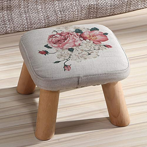SLH Persönlichkeit Cute Change Schuhe Bank Mode Tuch Kleine Bank Kreative Massivholz Hocker