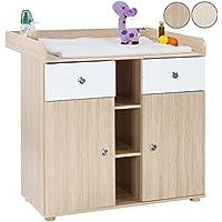 Infantastic Fasciatoio cassettiera mobile bambino neonato con 2 armadietti ca. 90/69/92 cm colore a scelta
