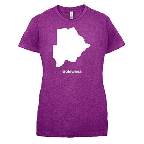 Botswana / Republik Botswana Silhouette - Damen T-Shirt - 14 Farben Beere