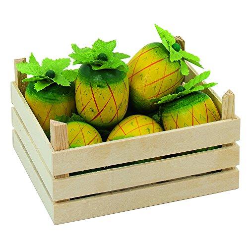 Preisvergleich Produktbild Goki 51669 - Kaufläden und Zubehör - Ananasfrüchte, Obstkiste