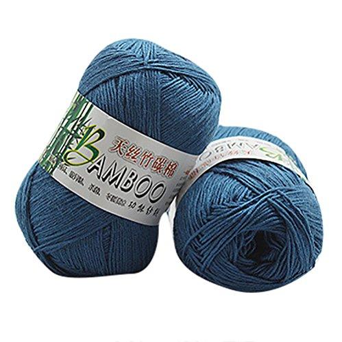 Oyedens Baumwollgarn Zum Stricken, Häkeln und für die Handarbeit, 100% Bambus Baumwolle Warm Weiche Natürliche Strick Strickgarn Crochet Strickwaren Wolle Garn 50g Handmade Crochet Mode