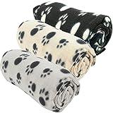Haustierdecke Hundedecke Fleece Decke Katzendecke Tierdecke Liegedecke Pfötchen