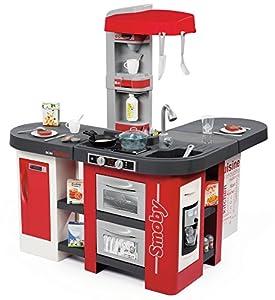 SMOBY - Kitchen Studio XXL Bubble con 38 accesorios, simula el efecto del agua hirviendo, refrigerador, horno, lavavajillas, dispensador de hielo, cafetera, 7600311025
