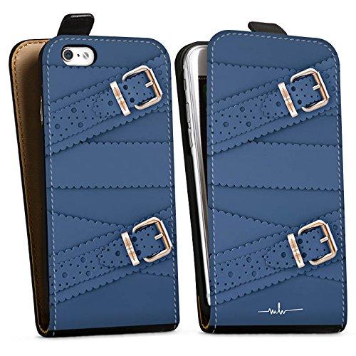 Apple iPhone X Silikon Hülle Case Schutzhülle Leder Mode Schnallen Downflip Tasche schwarz