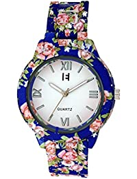 Excelencia CW-40-Blue Floral Printed Analog watch for Women, Girls