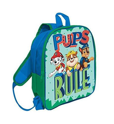 Mc zaino asilo paw patrol zainetto per bambini, 30 cm, blu elettrico