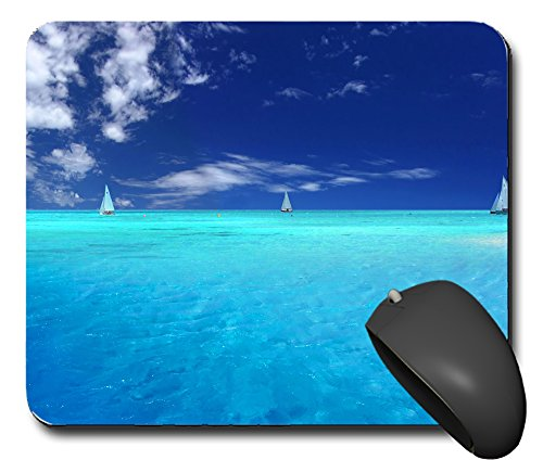 Preisvergleich Produktbild Mausp0819 Mauspad Urlaub Meer Karibik Segeln 2 Mausunterlage Mausmatte Mousepad Pc Computer NEU