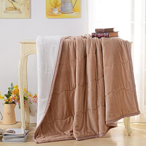 Xuan - worth having Licht Tan Polyester Material Winter Verdickung Decke Warm Doppelschicht (90 * 110 cm)