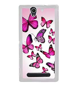 Colourful Butterflies 2D Hard Polycarbonate Designer Back Case Cover for Sony Xperia C4 Dual :: Sony Xperia C4 Dual E5333 E5343 E5363