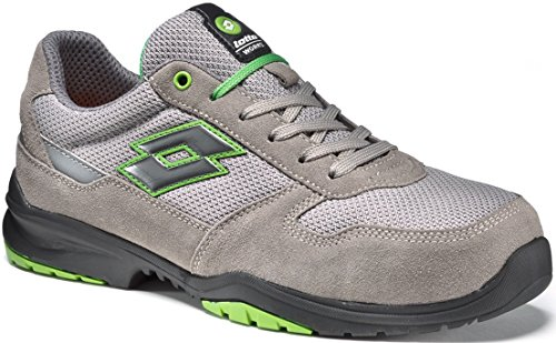 Scarpe antinfortunistiche Lotto Works FLEX EVO 500 S1P Grigio Verde - Memory Foam 771199 (41)