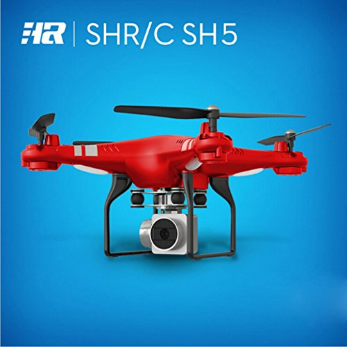 WYXlink 2017 Wide Angle Lens HD Camera Quadcopter RC Drone WiFi FPV Live Helicopter Hover (Red) - 2