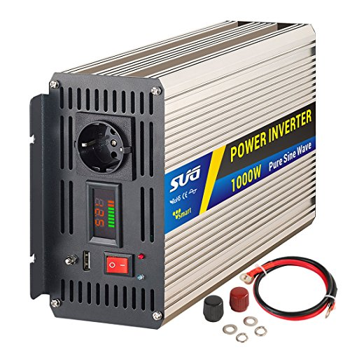 SUG 1000w (picco 2000w) inverter onda pura 12v 220v trasformatore di potenza con display a led (1000W 12VDC)
