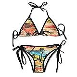 FDJKHY Personalized Women Bikini-Beach Life Swimsuit Beachwear