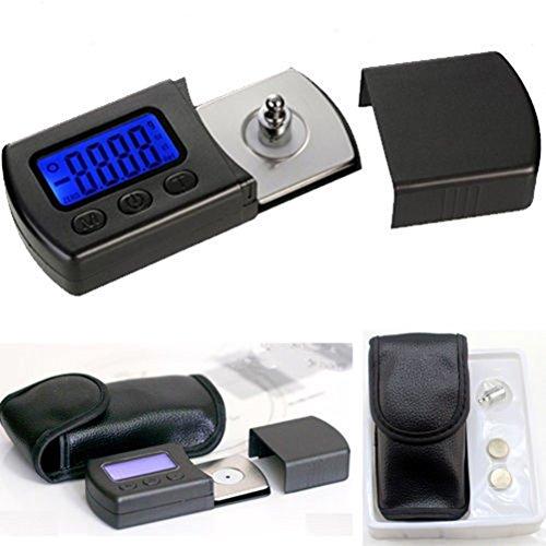 UEETEK Portable Professional Digital Turntable Stylus Force Scale Tester 0,01 g Schmuck Messgerätskala geführt