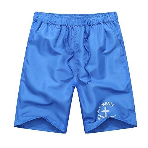 Men's Printed Leisure Beach Shorts blue