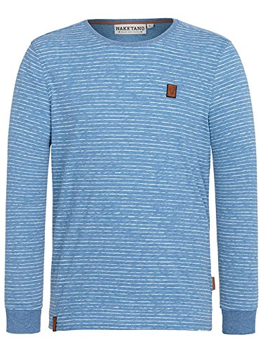 Naketano Male Sweatshirt Hosenpuper Langen V light blue melange