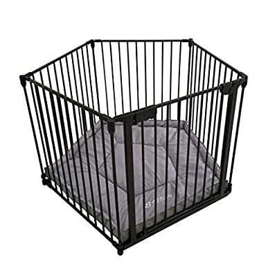 Venture All Stars VUE Foldable Playpen | Black (Black Vue Playpen Mat)