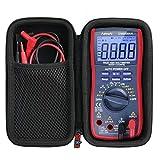 Khanka Hart Tasche Case Für AstroAI Digital Multimeter True RMS 6000 Counts Advanced Multimeter Schutzhülle. (Passt für TRMS 6000, schwarz Reißverschluss)