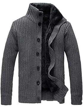 SICHYUAN Uomo Maglione Abbottonare Autunno Inverno Di Spessore Cardigan , Caldo Moda Nuovo Cavo Knit Stare In...
