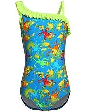 OUO Badeanzug,Bademode Print Mehrfarbig Anzug Beachwear für Mädchen 021